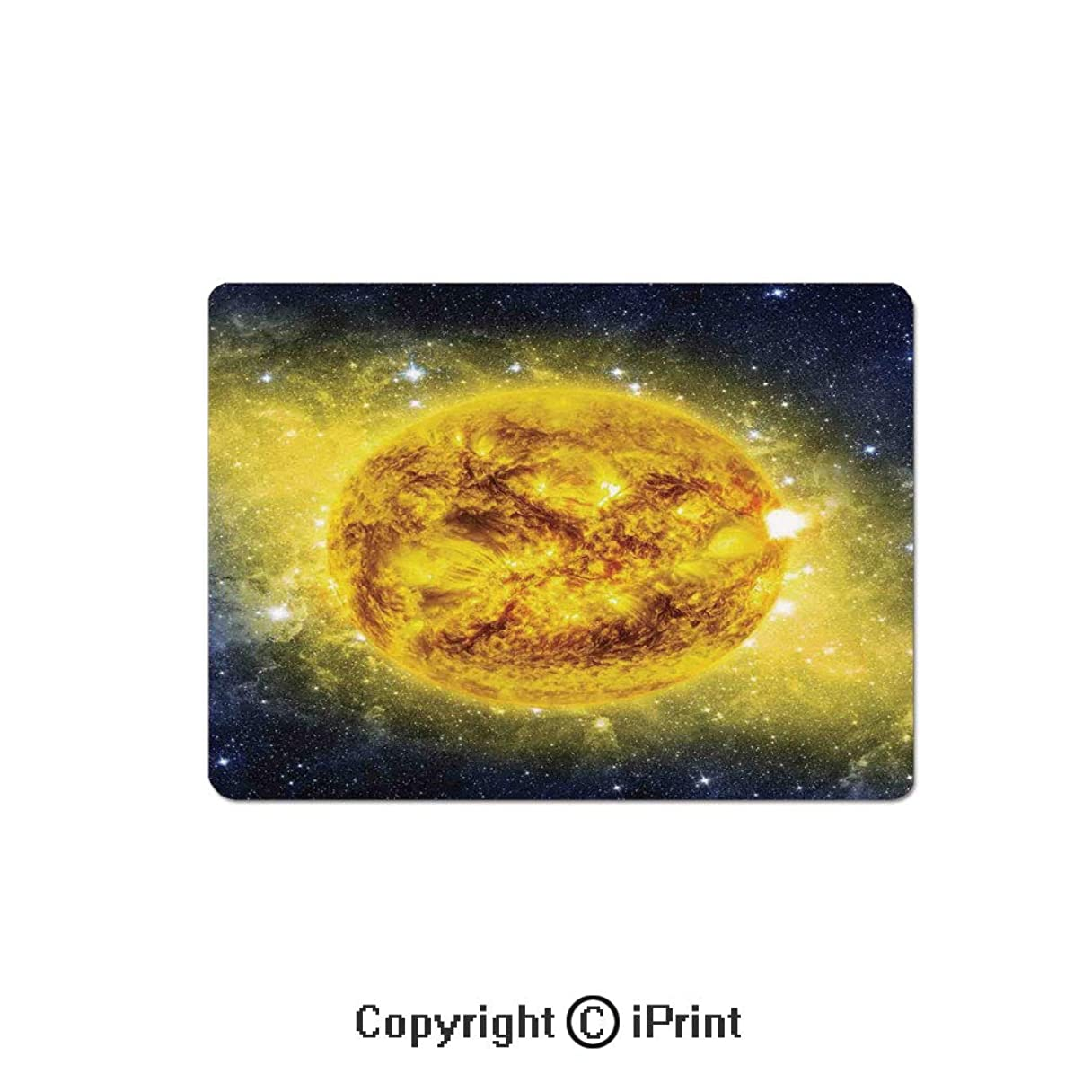 Large Gaming Mouse Pad Panorama of Sun in Space with Luminous Effects Dynamic Center of Solar System Print Extended Mat Desk Pad Mousepad Non-Slip Rubber Mice Pads 9.8