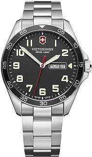 ساعت مچی کوارتز آنالوگ کوارتز آنالوگ مردان Victorinox با تسمه استیل ضدزنگ ، فلزی ، 21 (مدل: 241849)