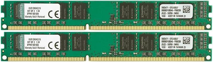 Kingston Technology ValueRAM 16 GB Kit of 2 (2x8 GB Modules) 1333MHz DDR3 PC3-10600 Non-ECC CL9 DIMM Motherboard Memory (KVR13N9K2/16)