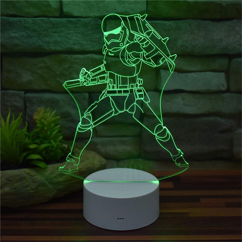 Umgebungslicht, Star Wars 3D Illusion Nachtlicht Imperial Acryl LED Visuelle Effekte Licht 16 Farbwechsel mit Smart Fernbedienung   Touch-Schalter ABS Basis Kreatives Modell Spielzeug Wohnkultur Stimm