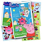 Peppa Pig On the Go Coloring Pouch Activity Set With Stickers, Coloring Pages, and Coloring Wheel