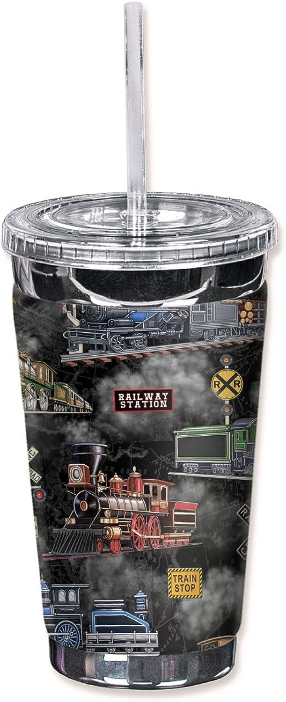 punto de venta Mugzie 1021-tgc  de locomotoras de vapor vapor vapor (negro)  to go vaso con cubierta de neopreno aislante, 16oz, Color negro  ventas calientes