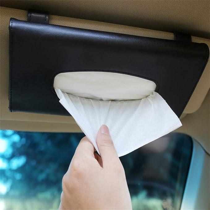 Seasaleshop Auto Taschentuchbox Halterung Kosmetiktuch Halterung Auto Tissue Box Tücherbox Rack Kreativ Auto Sonnenblenden Tuch Auto