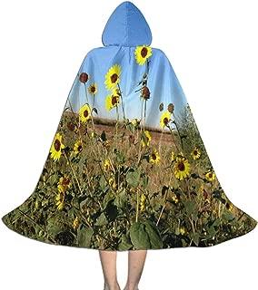 REDCAR Hooded Cloak Cape Tumblr Sunflower Fantastic Party Vampires Cosplay for Kids Girls Boys