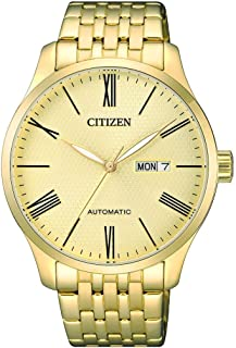 Citizen Men Gold Dial Stainless Steel Band Watch - NH8352-53P