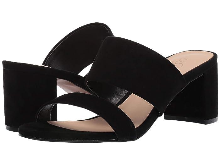 42 GOLD  Liya (Black Suede) Womens Sandals