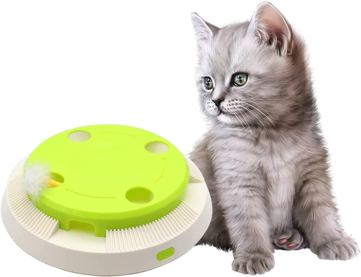 AQluming Interactive Electronic Cat Toy Feather A Cheap Limited time cheap sale mail order shopping Rotating with