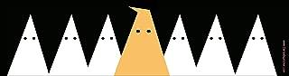 Funny Anti-Trump Magnetic Bumper Sticker Shows Donald Trump as Racist