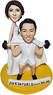 figurine di sollevamento pesi personalizzati coppia cake topper top mustle uomo figurine di sollevamento pesi fatte a mano...