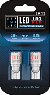 SIRIUSLED - FT- 194 912 Side Marker LED Light Car Interior, Map, Dome, Trunk, Backup Bulb High Power 3030 + 4014 SMD Super Bright Pack of 2 (Red)