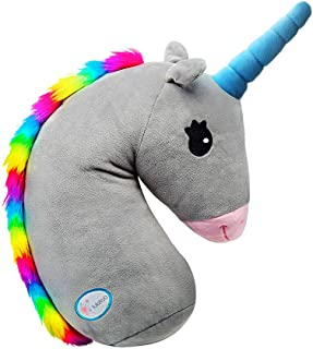Unicorn Seat Belt Pillow for Kids,Car Seat Belt Cover for Travel,Stuffed Animal Travle Pillow,Washable Head Support Cushion Cover for Safety Strap & Booster Seats