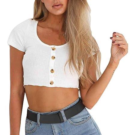 Ronamick Camisetas Algodon Mujer Fiesta Blusa Blanca Mujer ...