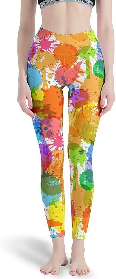 Flowers LEGGINGS Yoga with Abstract Flower Pattern Jogging Pants Unisex Yoga Pants Sports Pants Yoga Leggings Comfortable Elastic,