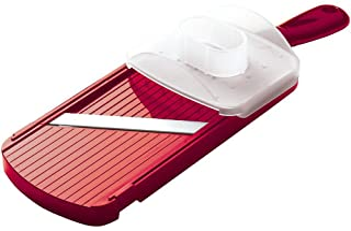 Kyocera Mandolin Slicer Mandolin Slicer with Handguard, Red, CS-152-NRD