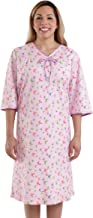 Silverts Disabled Elderly Needs Womens Adaptive Hospital Gown Open Back Regular and - Lavender MED