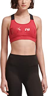 DKNY Sport Women's Logo Racerback Low-Impact Sports Bra, Red, X-Large