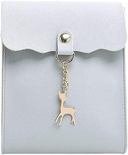 RONSHIN Women Fashion Chain Satchel Solid Color Single Shoulder Belt Bag