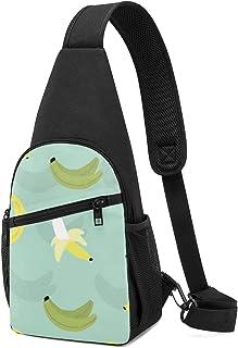 Plaintain - Mochila bandolera con patrón sin costuras, ligera, para el hombro, bolso bandolera, para viajes, senderismo, p...