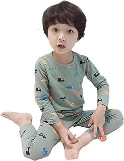 Muzboo Pijamas para niños, ropa de dormir, ropa de dormir, juego de 2 piezas