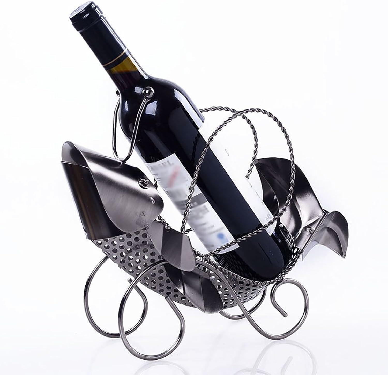 XF Estante del Vino - Estante Creativo Europeo del Vino en Forma de pez del Metal, Estante Decorativo de Gama Alta del Vino, Ornamentos de los Artes (2 Estilos Disponibles)    (Estilo   B)