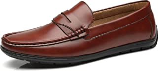 Faranzi Mens Driving Moccasins Penny Slip On Loafers Classic Comfortable Casual Driving Shoes Boat Shoes for Men