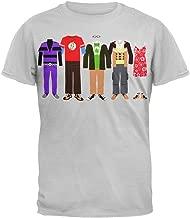 Big Bang Theory - Mens Wardrobe Line Up T-Shirt