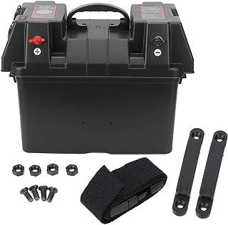 Caixa de bateria, caixa de bateria inteligente multifuncional de 12 V, disjuntores de circuito integrados duplos carregado...
