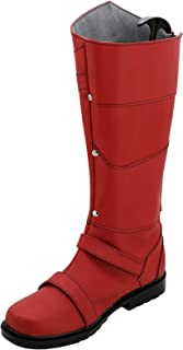 GOTEDDY Max Cosplay Boots Halloween Red Costume Shoes Men Women