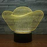 Luz Nocturna 3D, Lingote De Oro Dinero Lámpara Led 3D Color Luces Nocturnas Táctiles Mesa Usb Lampara Lampe Luz Nocturna Para Relaciones Comerciales Barco De Regalo