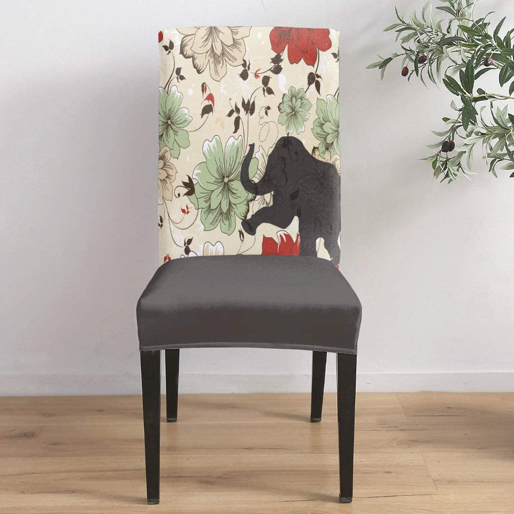 Dining Max 61% OFF Room Stretch Chair Cover Slipcover of Retro Ele Shaow Sales for sale The