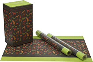eVincE 10 Gift Wrapping Papers of Large Size (50 x 70 cms) with Interesting Doggy Facts
