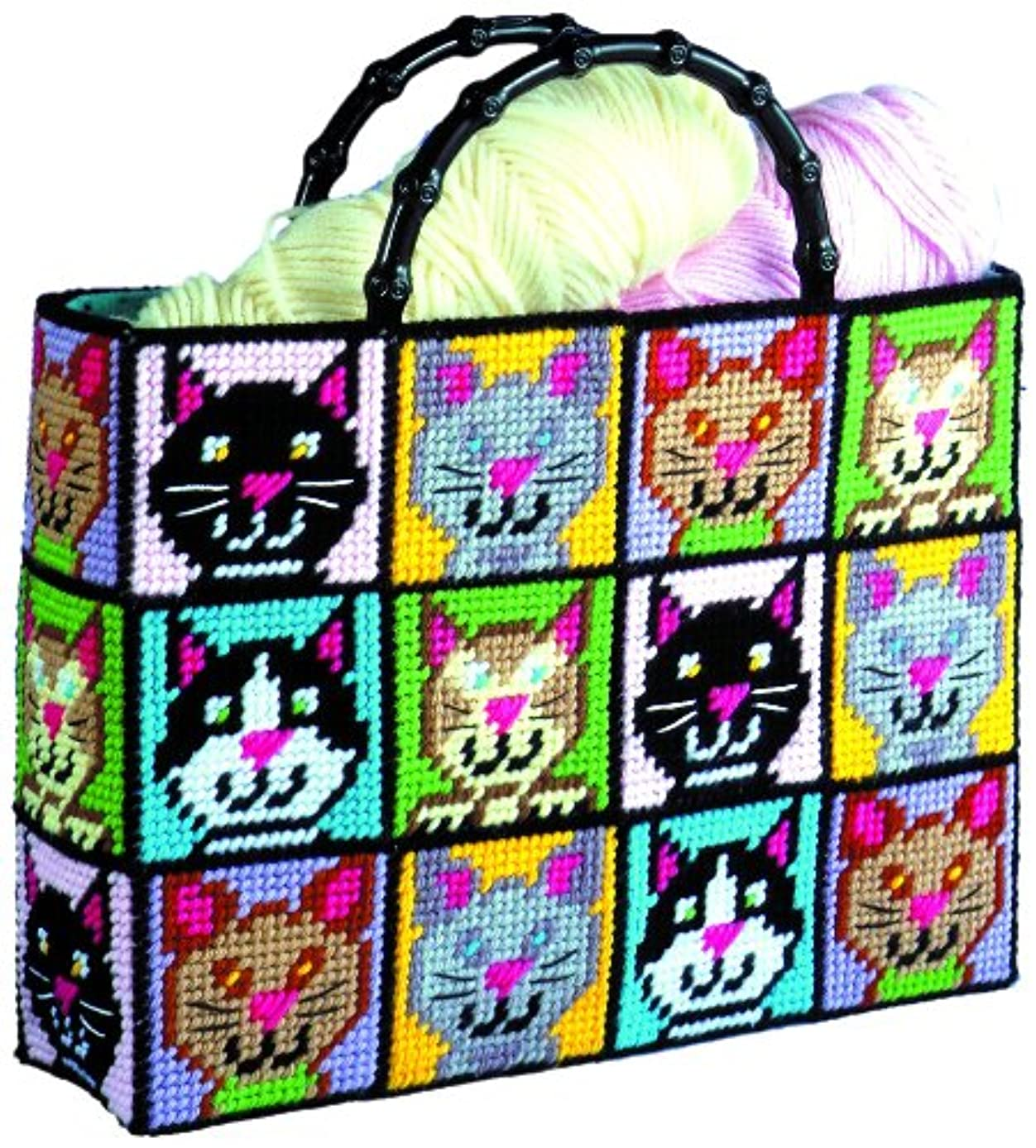 Tobin DW1826 Cat Tote Bag Plastic Canvas Kit, 12 by 13 by 9-Inch