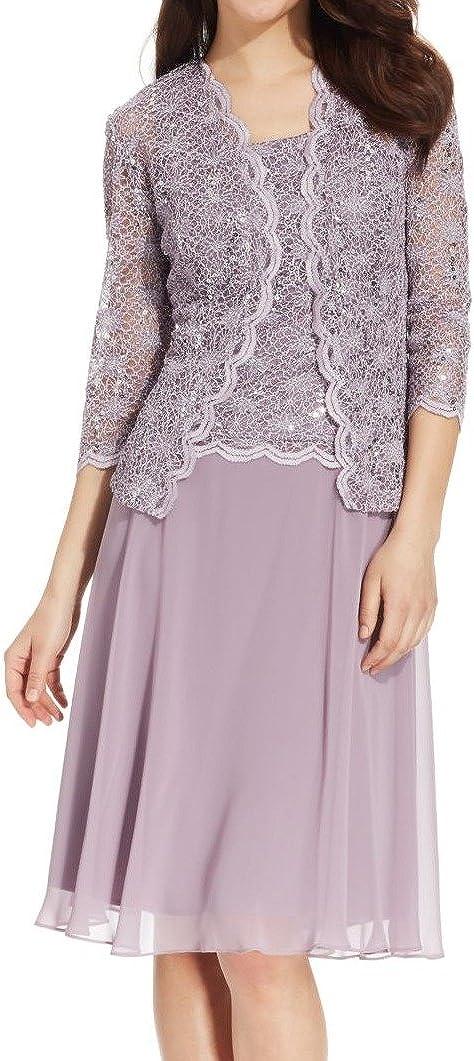 R&M Richards Women's Lace Pop Over Jacket Dress