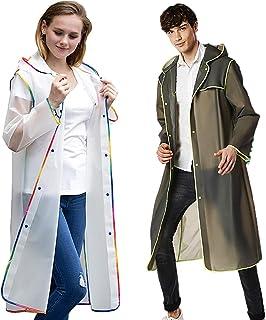 AK Brighter おしゃれなモダンなレインコート 軽量 完全防水 ウオーキング 通勤 通学 旅行男女兼用 梅雨 レインウエア