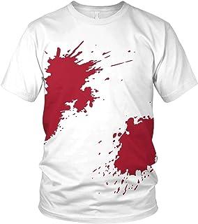 vanVerden Blutiges Shirt mit Blutspritzer - Outfit Kostüm Verkleidung Halloween Karneval Fasching - lustiges Motto Motiv Spruch Shirt - Herren T-Shirt und Männer Tshirt
