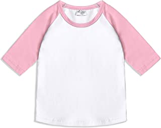 CREATOR Toddler Baby Girls Boys 3/4 Sleeve Shirts Raglan Shirt Baseball Tee Cotton T-Shirt