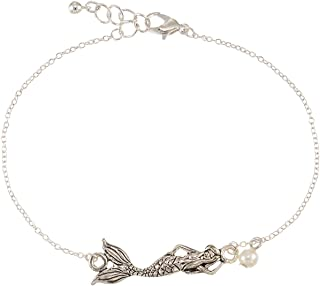 World End Imports Mermaid with Pearl Anklet