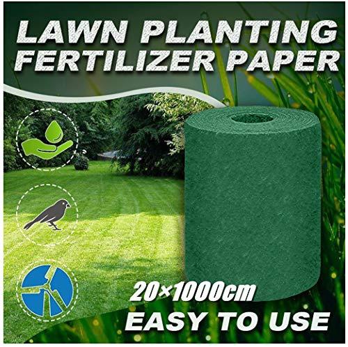 Grass Seed Mats 20×1000cm, Fleur Pant Graines Plantation Tapis Chauffage Germination Couverture Jardinage Pelouse Engrais Écologique Biodégradable (Vert)