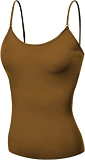 Emmalise Women's Camisole Built in Bra Wireless Fabric Support Short Cami