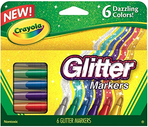 Crayola (2-Pack) Glitter Markers 6 Pack 58-8629