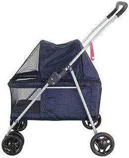Pet stroller Pet Stroller, Collapsible Pet Stroller, Small Pet Stroller, Dog Cart,Lightweight and Portable Pet Stroller, for Small and Medium Pets (Color : Blue)