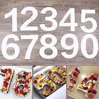 EORTA 0-8 Numeral Cake Tins Molds Arabic Number Cake Maker Decorative Fillings Layered Cake Baking Tools for DIY Wedding B...