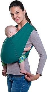 AMAZONAS Bärväska CarryBaby Petrol Magdräkt 2 slingor stressfria utan knutar 4 månader – 3 år upp till 15 kg