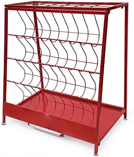 5CD1 Nordic Wrought Iron Umbrella Stand Umbrella Storage Rack Holder for Any Home Office Apartment Hotel Bank (Color : Red)