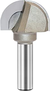 Core Box Router Bit Double Flute Round Nose Router Bit Carbide Tipped Woodworking Tool Round Groove Router Bit 13/16'' Radius x 1-5/8'' Dia. x 1/2 inch Shank (1/2X1-5/8)