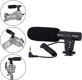 Micrófono de cámara micrófono de vídeo para Canon Sony Nikon cámara DSLR/DV micrófono de entrevista de fotografía con Interfaz de 35 mm (Excepto para Canon T5i T6)