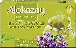 Alokozay Green Tea with Thyme Bags, 25 Bags