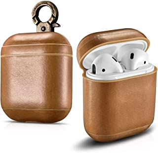 Prodigee [Jack for AirPods] Genuine Leather Case Protective Portable Cover for Apple Airpods (Brown)