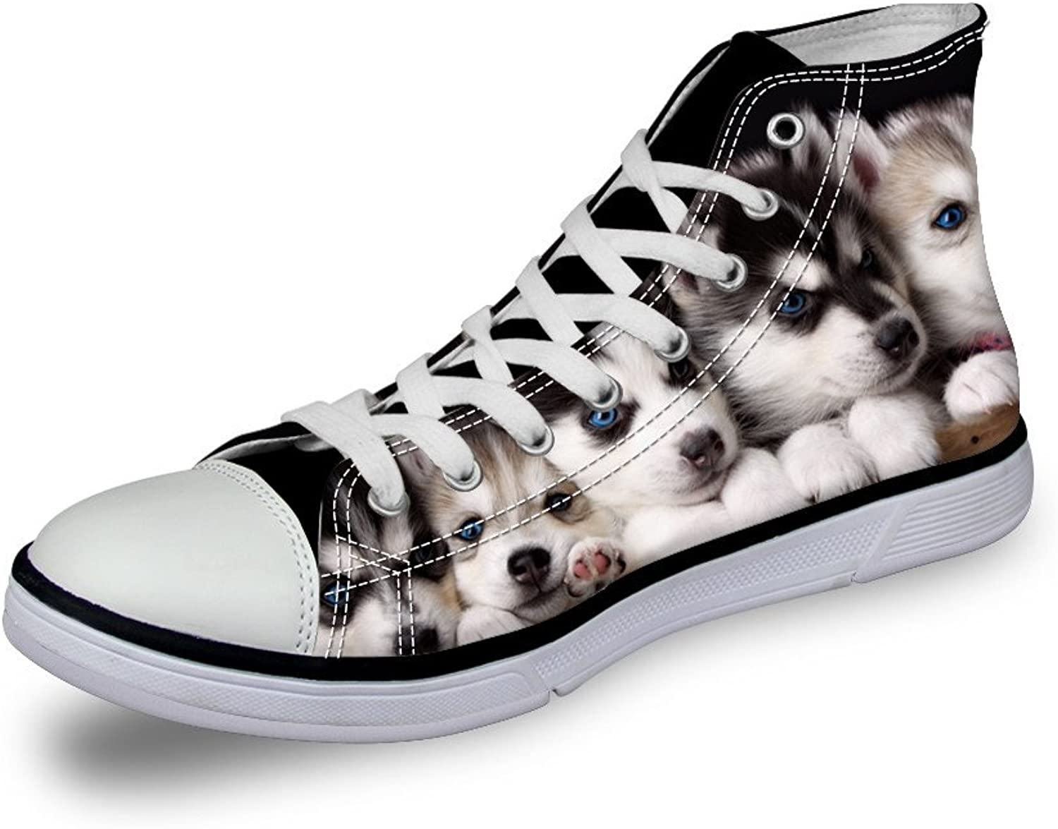 Chaqlin Cute Pet Dog Women Canvas shoes Lacing High Top Flat Sneaker