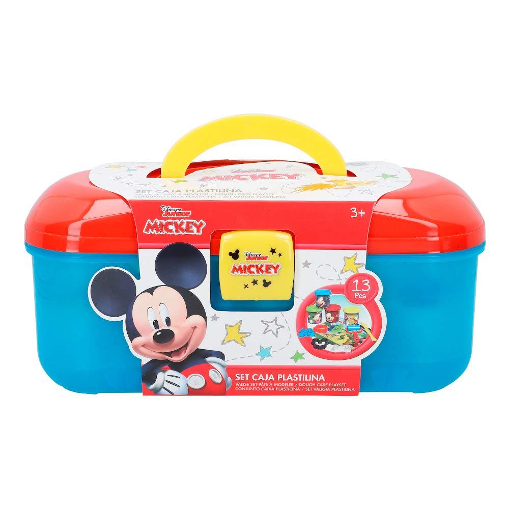 Disney Kit caja plastilina Mickey con 4 botes de 114 g accesorios y tapete (Colorbaby 77180): Amazon.es: Juguetes y juegos